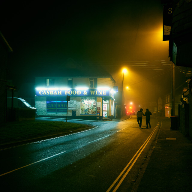 """Foggy Night"" stock image"