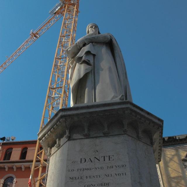"""""""Statue of Dante"""" stock image"""