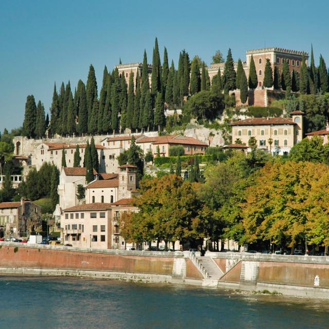 """""""Castel San Pietro"""" stock image"""