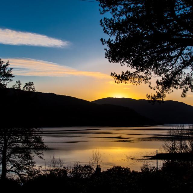 """Loch Sunart Sunset"" stock image"