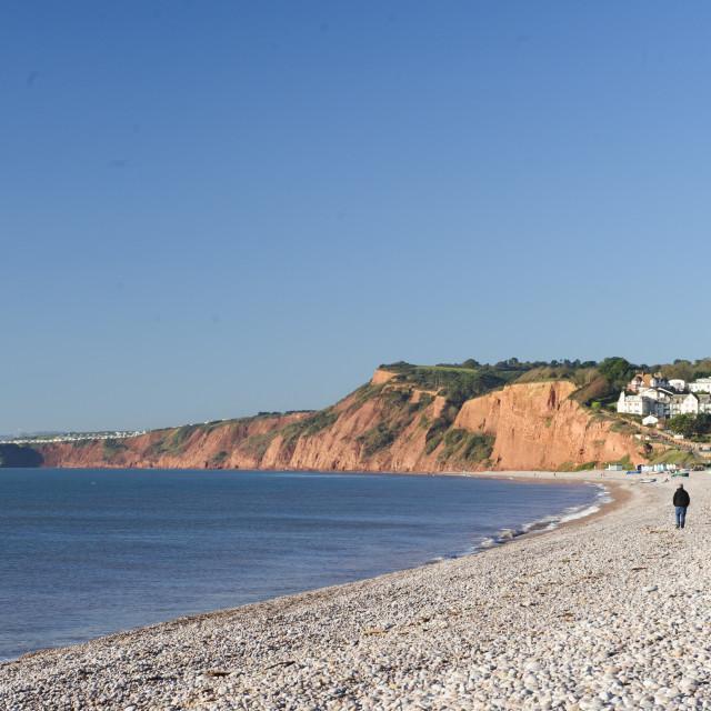 """""""Budleigh Salterton beach, Devon"""" stock image"""