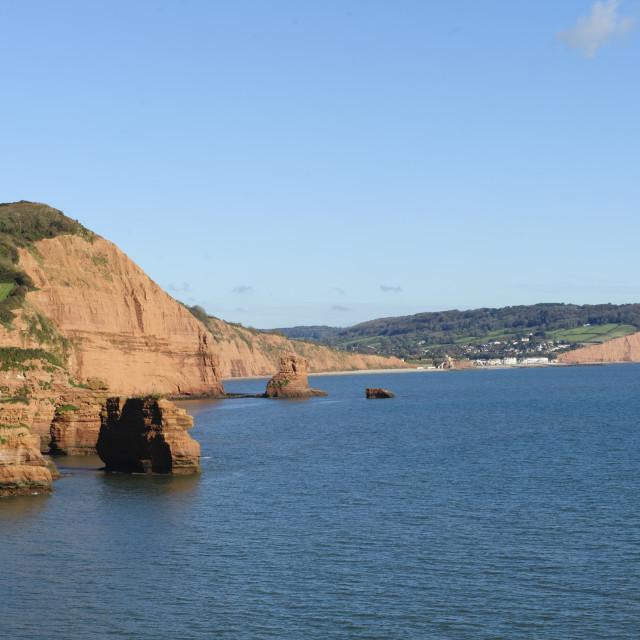 """Ladram Bay, East Devon"" stock image"