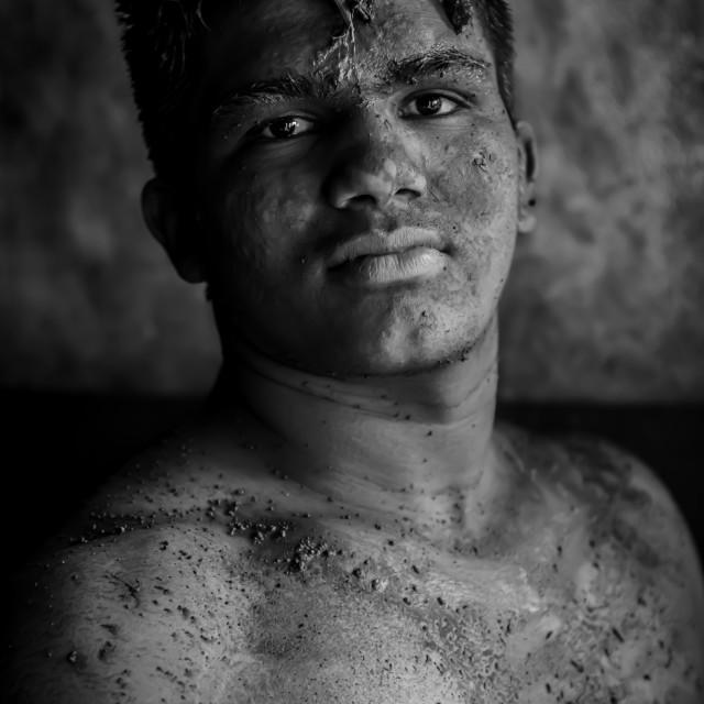 """""""Kushti Wrestler, Kolhapur, India"""" stock image"""