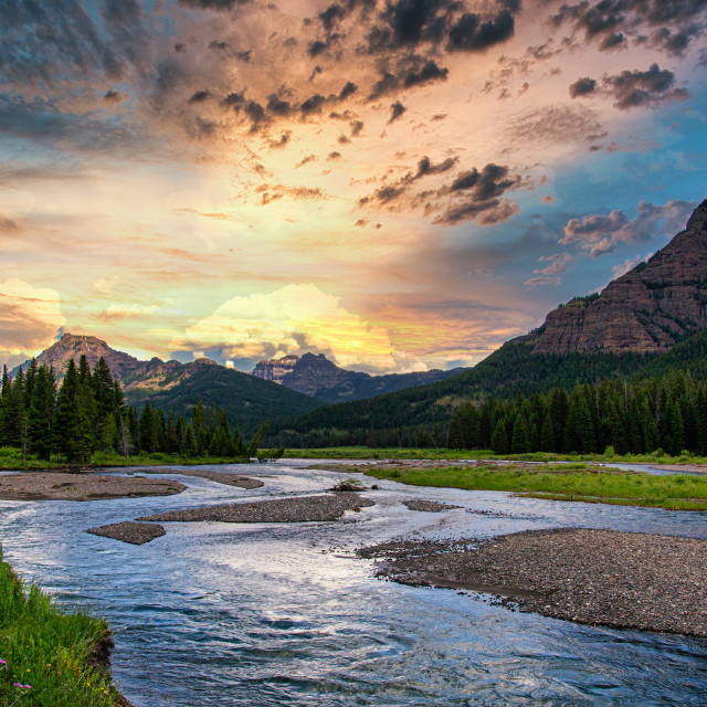 """Lamar Valley - Yellowstone National Park"" stock image"