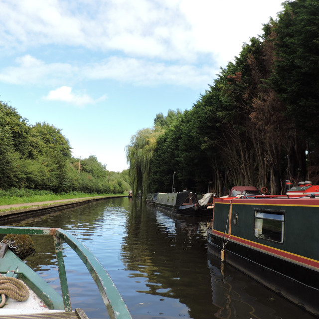 """""""Canal trip September 2020"""" stock image"""