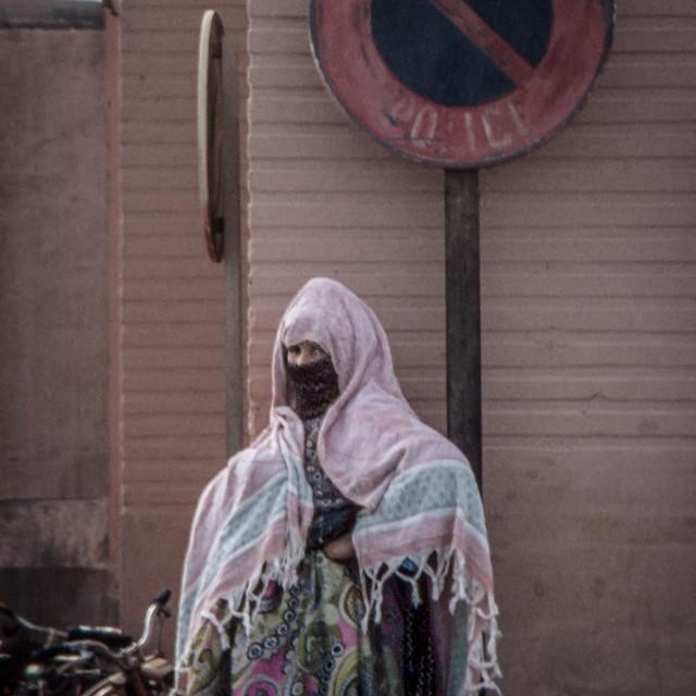 """Veiled matron, Marrakesh"" stock image"