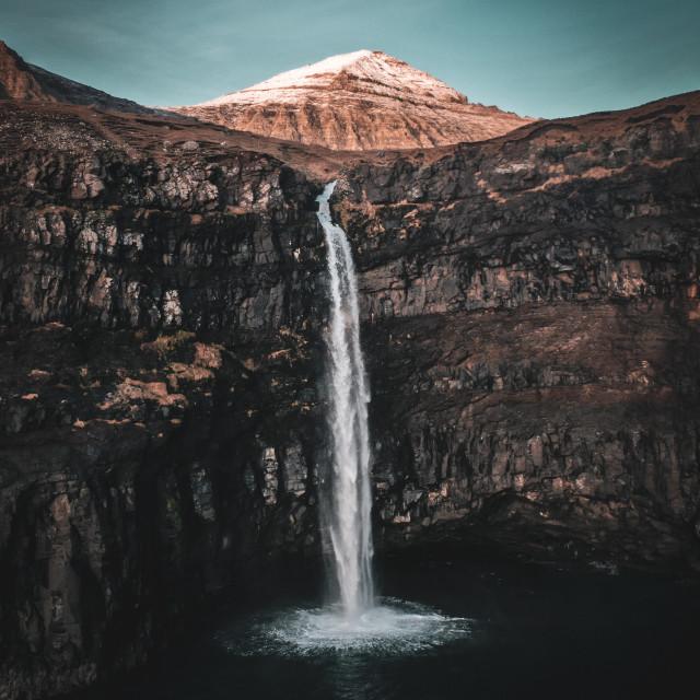"""Múlafossur waterfall"" stock image"