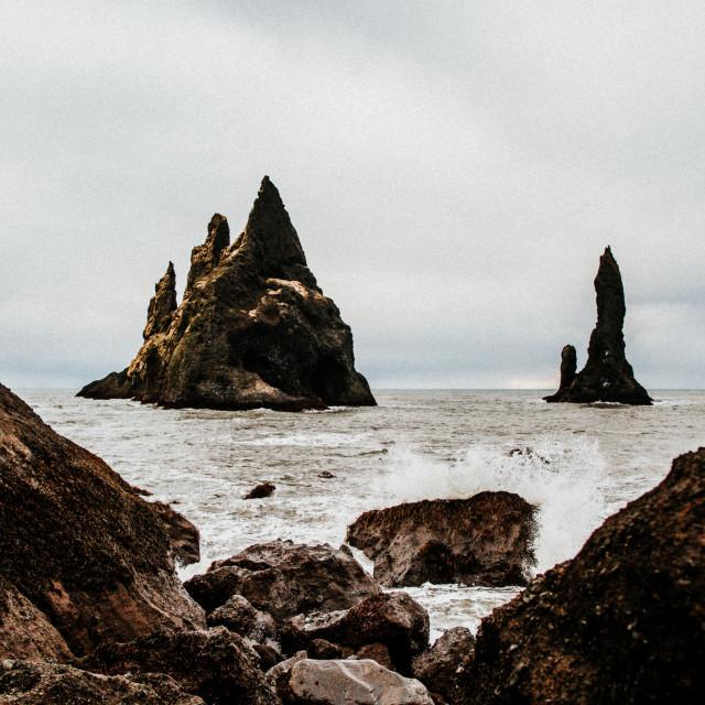 """""""Coastal Stacks"""" stock image"""