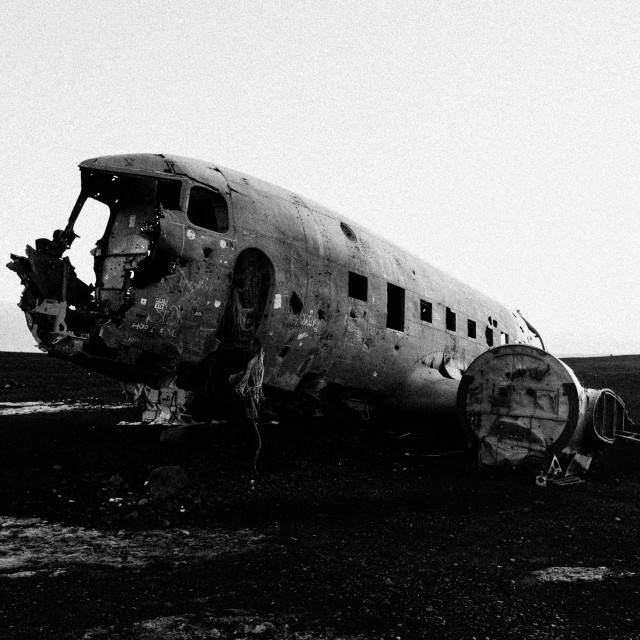 """Plane Wreck"" stock image"