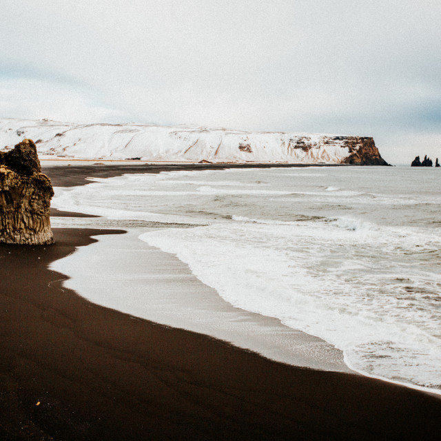 """Iceland Beach"" stock image"
