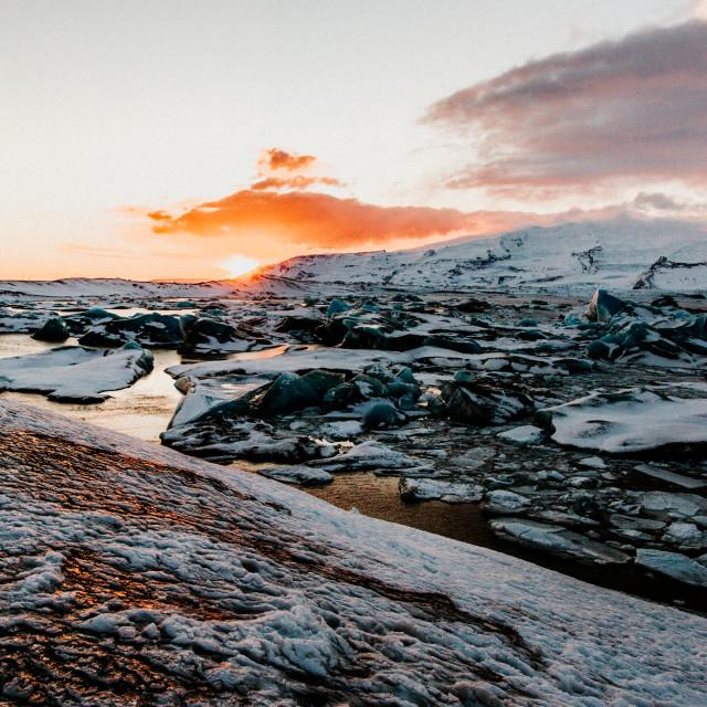"""""""Glacier Break"""" stock image"""