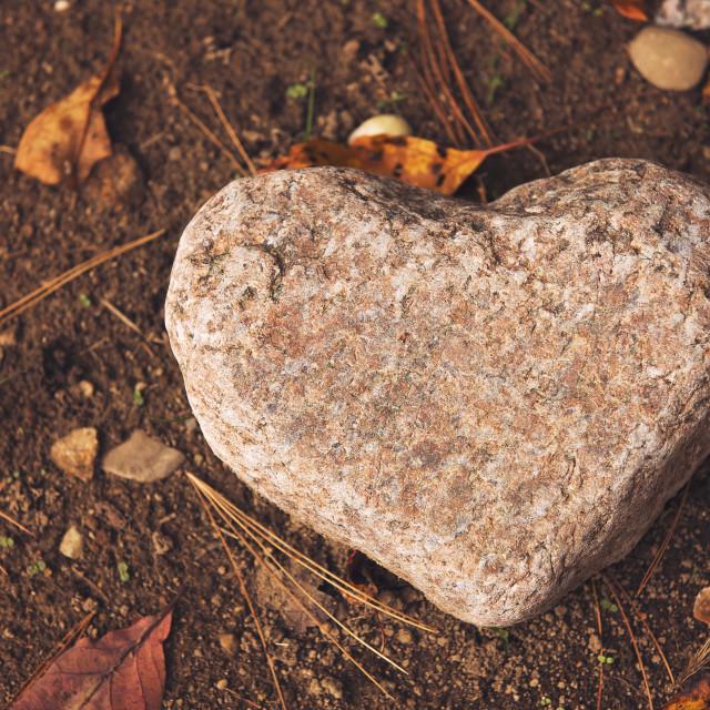 """Heart Shaped Rock"" stock image"
