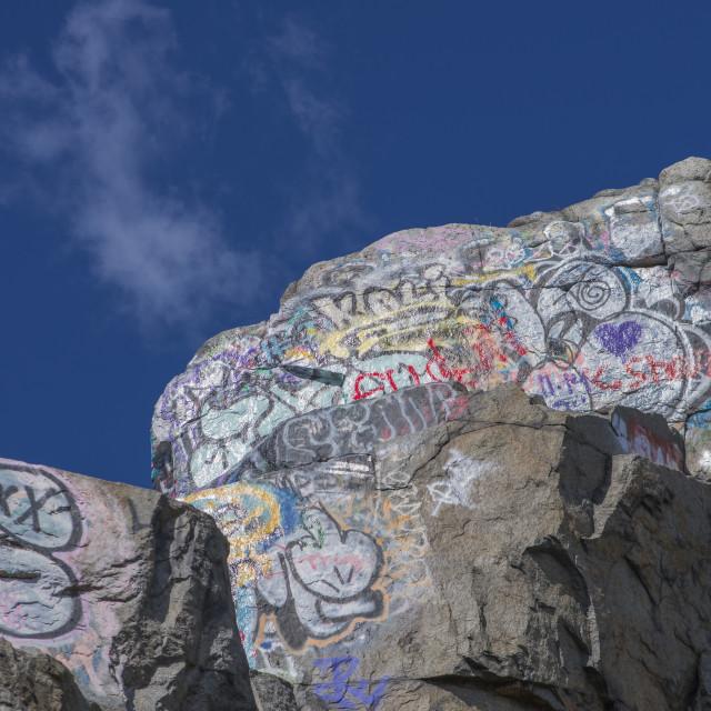 """Graffiti rock"" stock image"