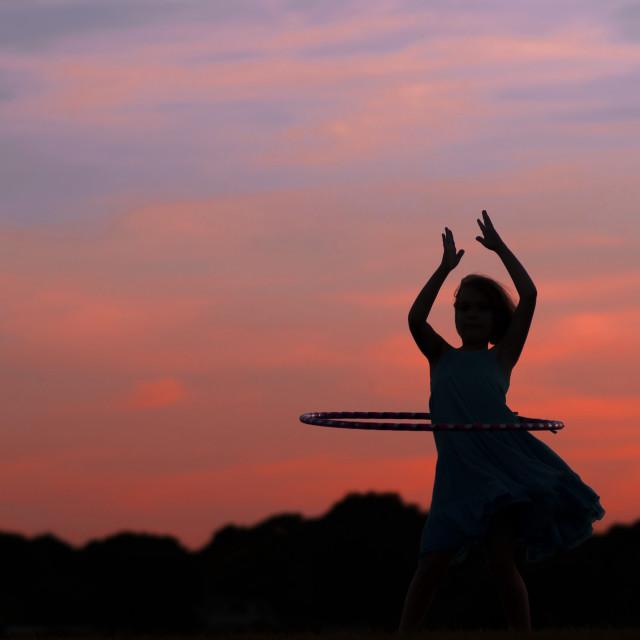 """Sunset Silhouette"" stock image"
