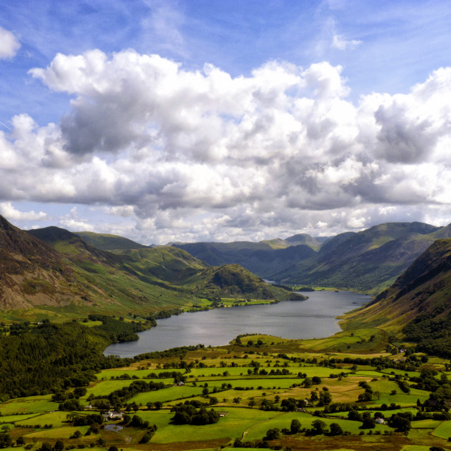 """Crummock Water - A Lake District Landscape"" stock image"