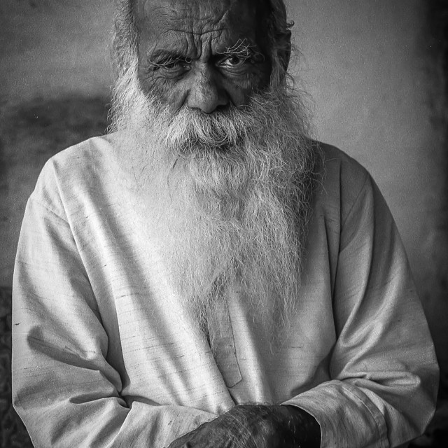 """Old Man, Rishikesh"" stock image"