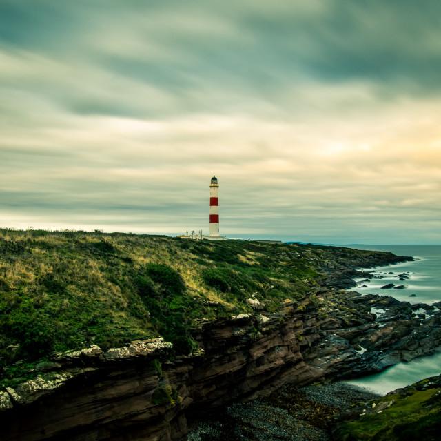 """Tarbat Ness Lighthouse"" stock image"
