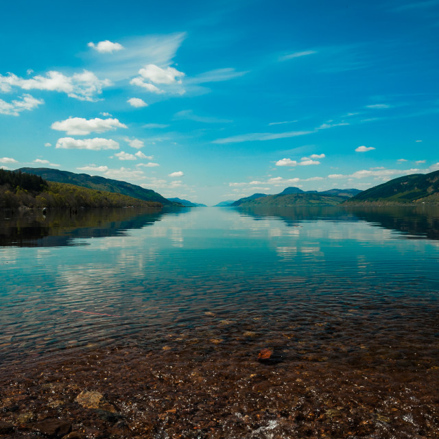 """""""The View Doon the Loch"""" stock image"""