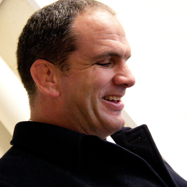 """Inspirational' Ex Captain of England Rugby Union Team Martin Johnson CBE"" stock image"