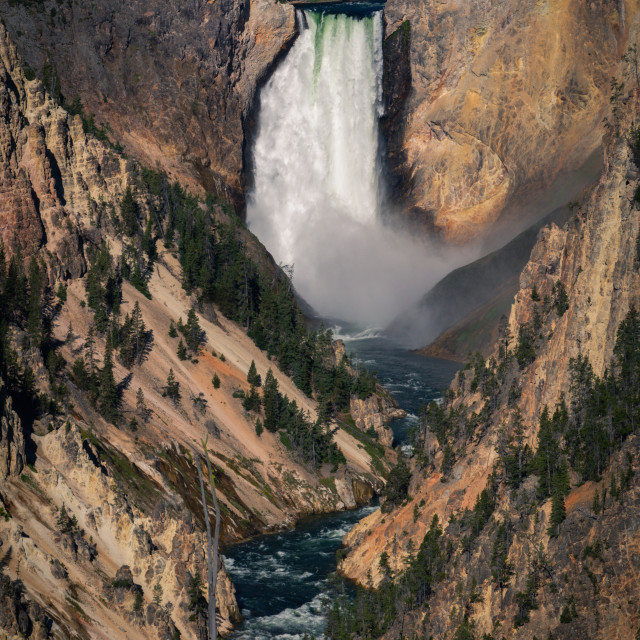 """Yellowstone Falls"" stock image"