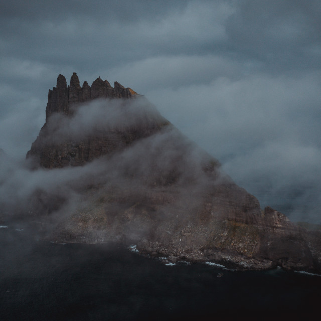 """Tindhólmur island"" stock image"