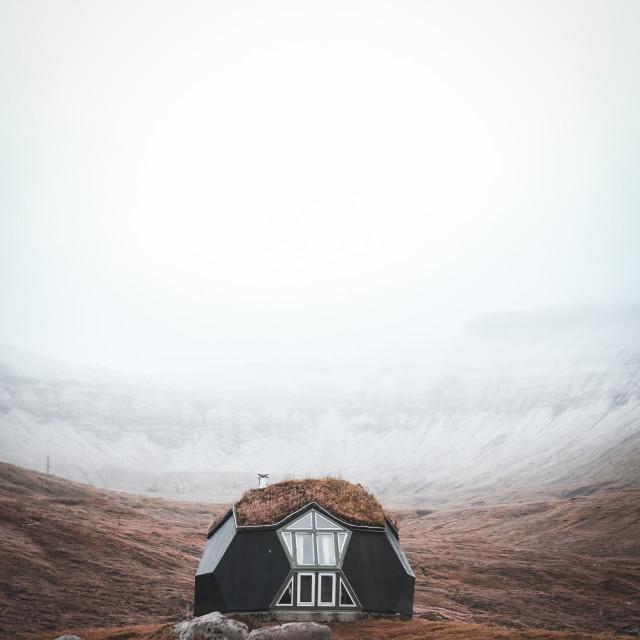 """Cabin in the Faroe islands"" stock image"
