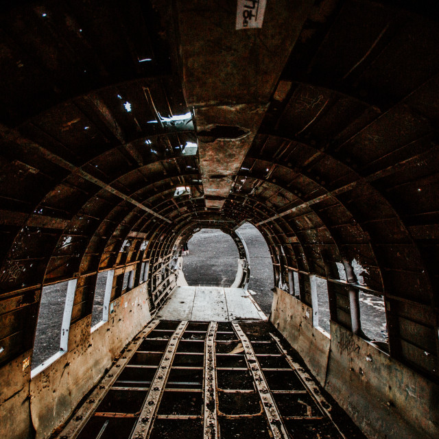 """""""Inside the Wreckage"""" stock image"""