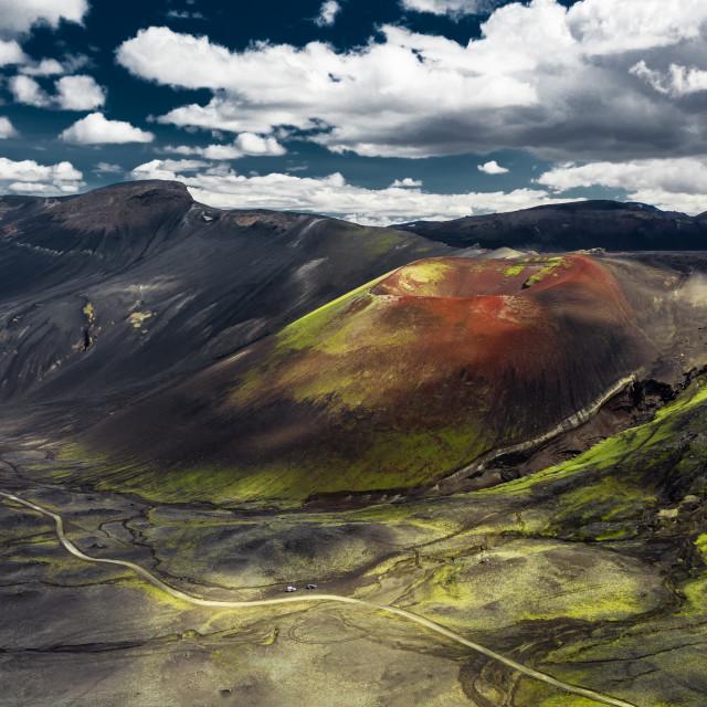 """Raudaskal crater"" stock image"
