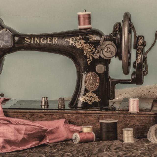 """""""Singer Sewing Machine"""" stock image"""