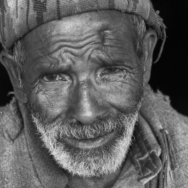 """""""Village Elder, Kullu Valley, N. India"""" stock image"""