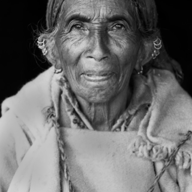 """Old Lady Kullu Valley, N. India"" stock image"