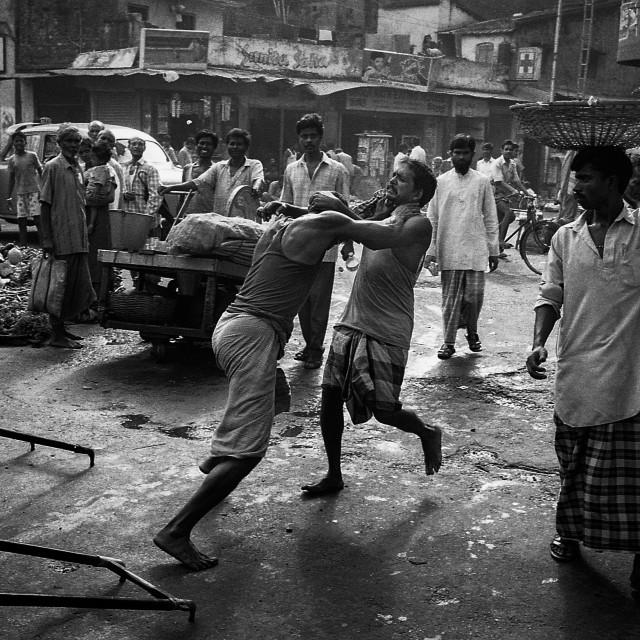 """Road Rage, Kolkata, India"" stock image"