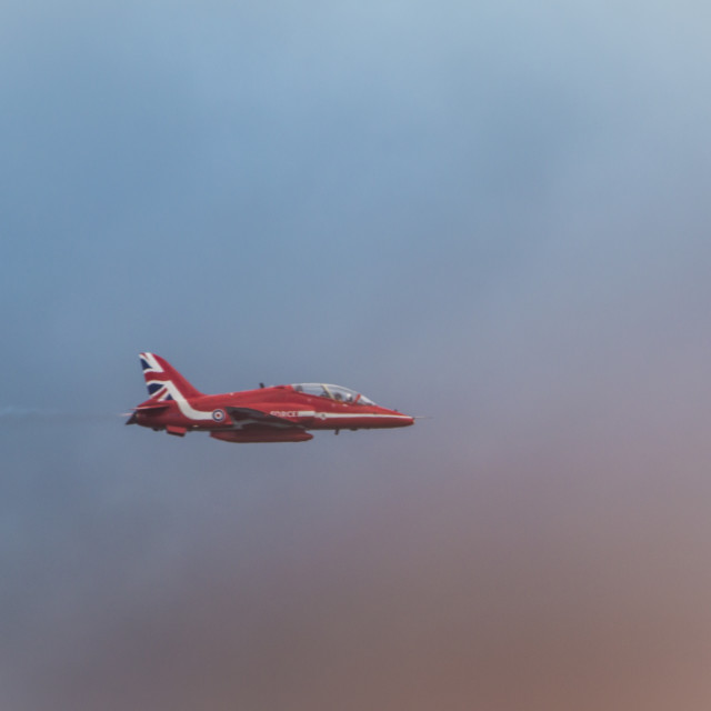 """Red Arrows Solo"" stock image"