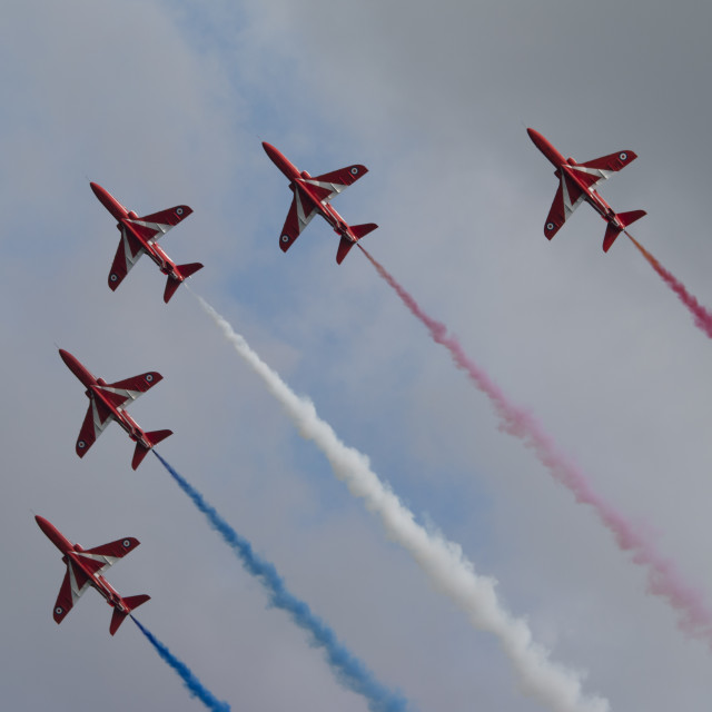"""Red Arrows Formation 3"" stock image"