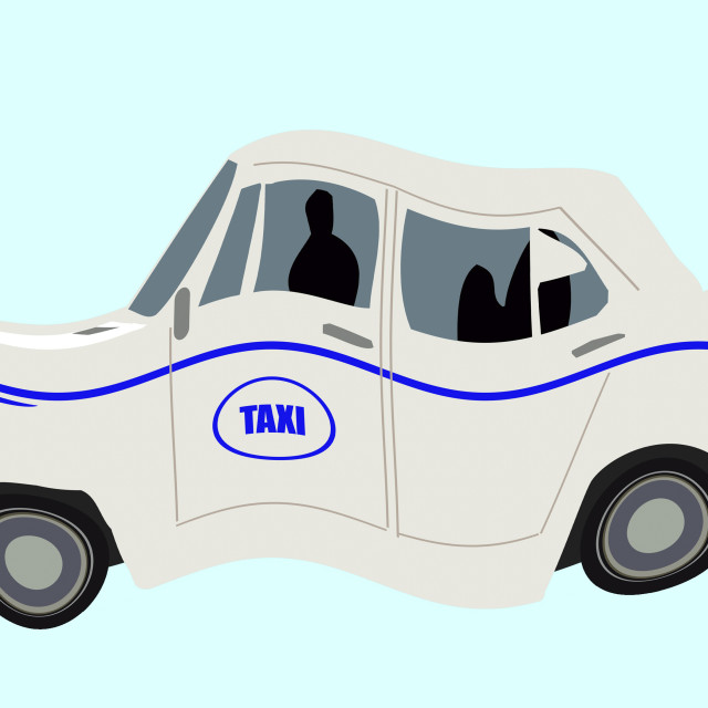 """""""Ambassador taxi in India. Animation available."""" stock image"""