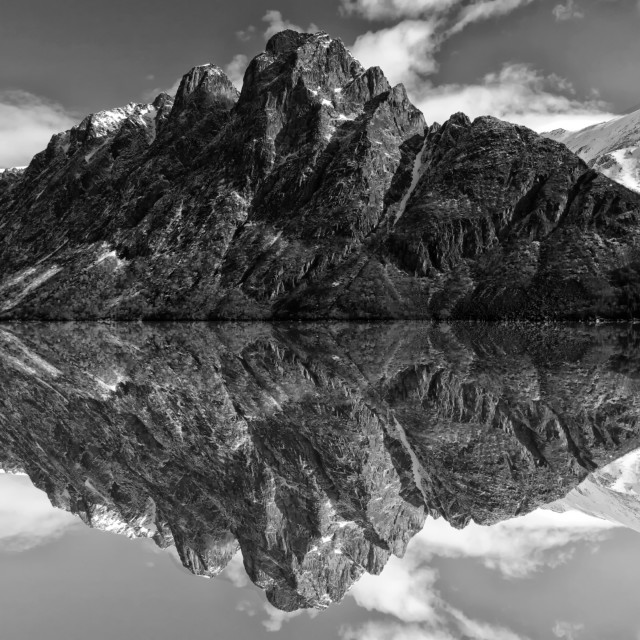 """""""Mountain in the water"""" stock image"""