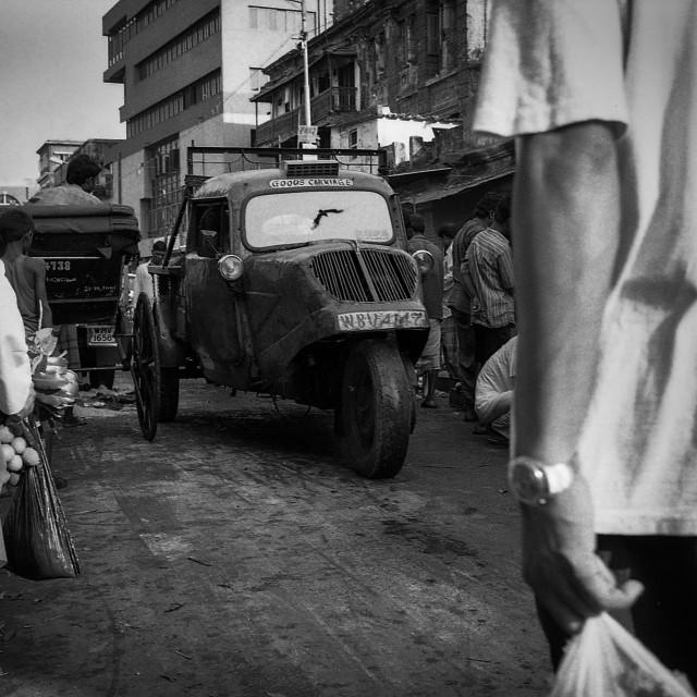 """""""Reflection, Kolkata, India"""" stock image"""