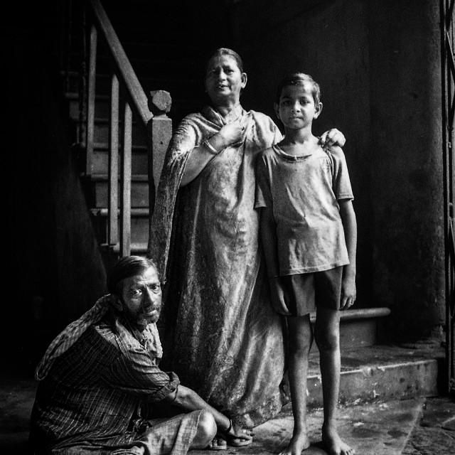 """Family, Kolkata, India"" stock image"