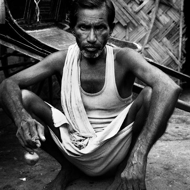 """""""Rickshaw Puller, Kolkata"""" stock image"""