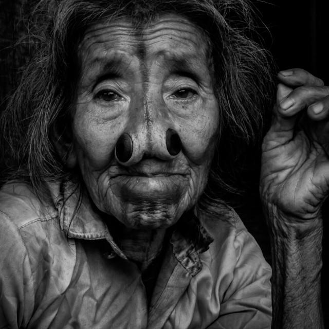 """Apatani Woman"" stock image"