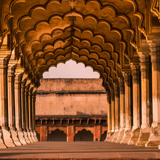 """""""Red Fort, Agra"""" stock image"""