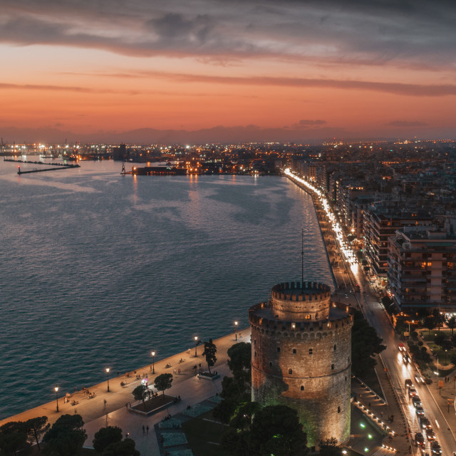 """Thessaloniki sunset"" stock image"