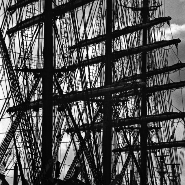 """Tall ship masts"" stock image"
