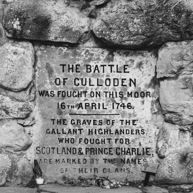 """""""Culloden Monument"""" stock image"""