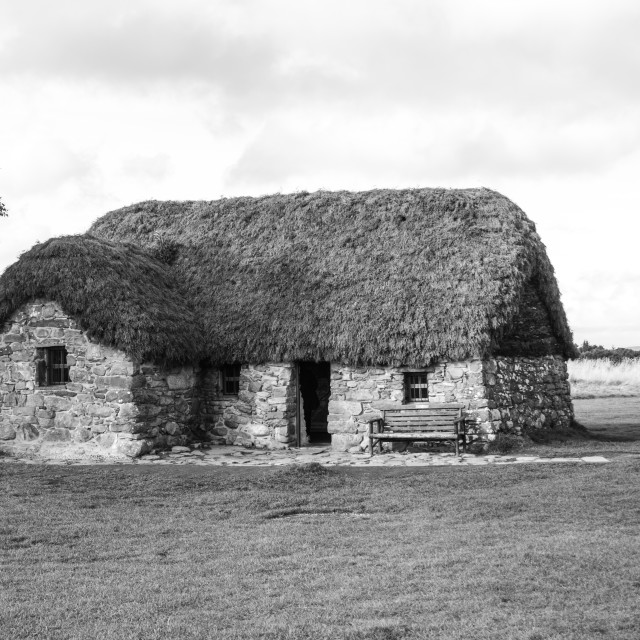 """""""Leanach Cottage Culloden"""" stock image"""