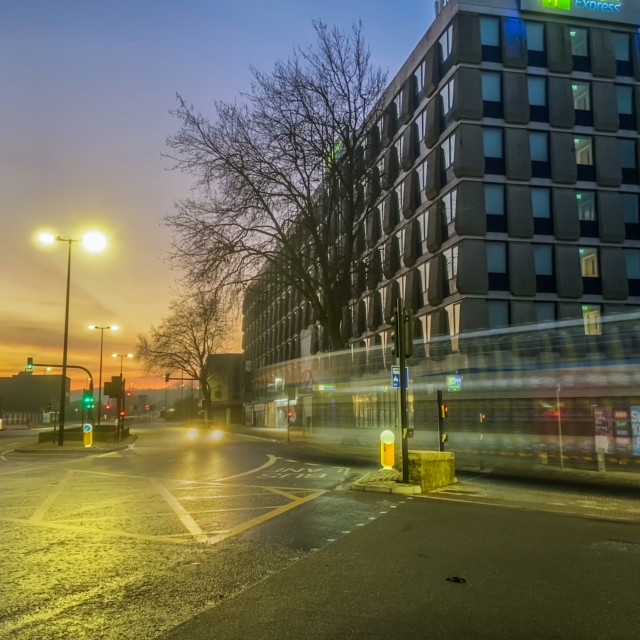 """Early morning in the city"" stock image"