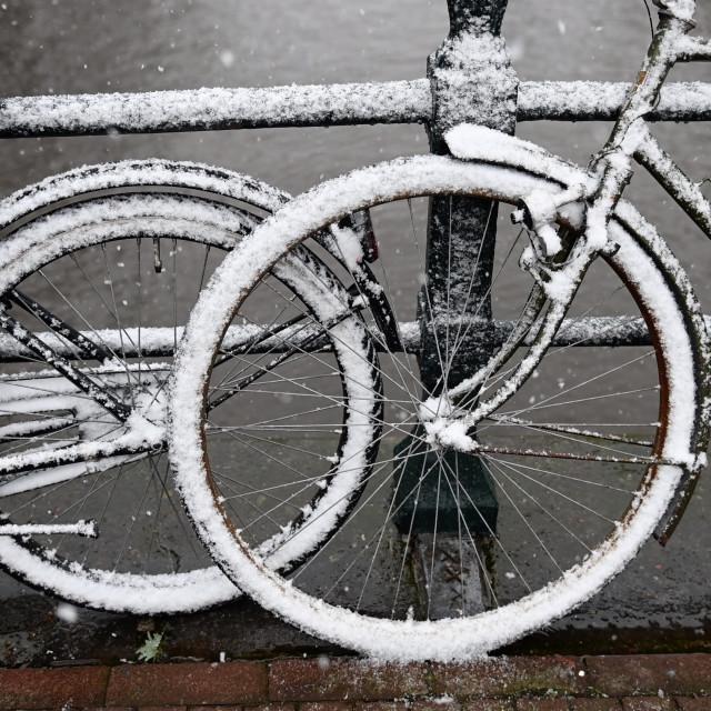 """Amsterdam Nederland 16 januari 2021 Sneeuw! Amsterdam The Netherlands 12th January 2021 Snow!"" stock image"