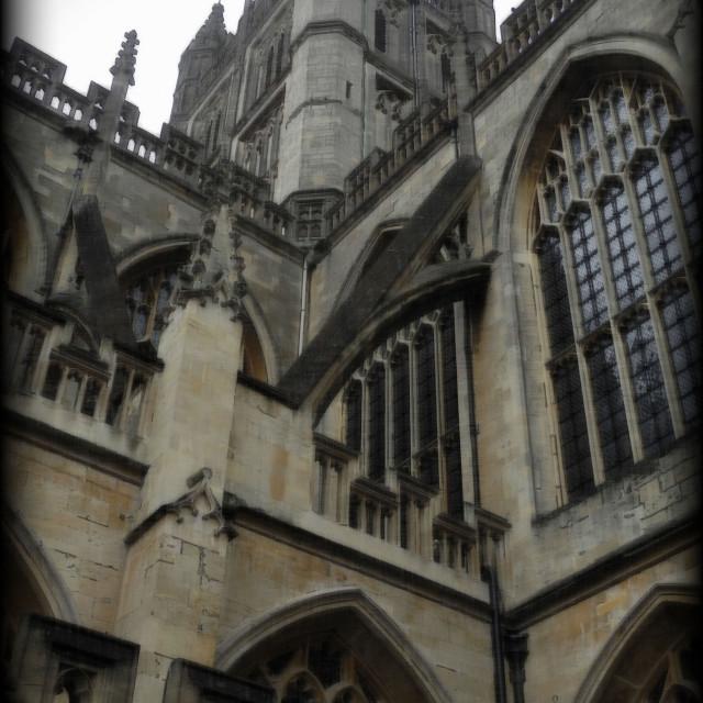 """""""Bath Abbey exterior detail (PT)"""" stock image"""