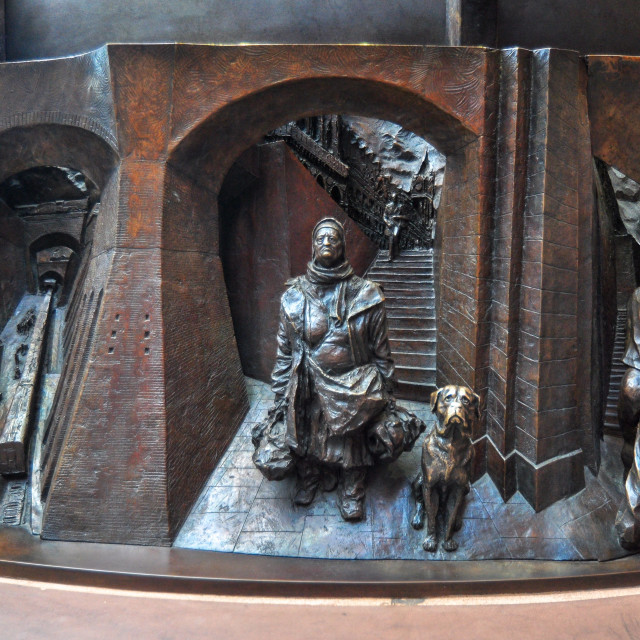 """""""Reliefs showing history of St. Pancras station"""" stock image"""