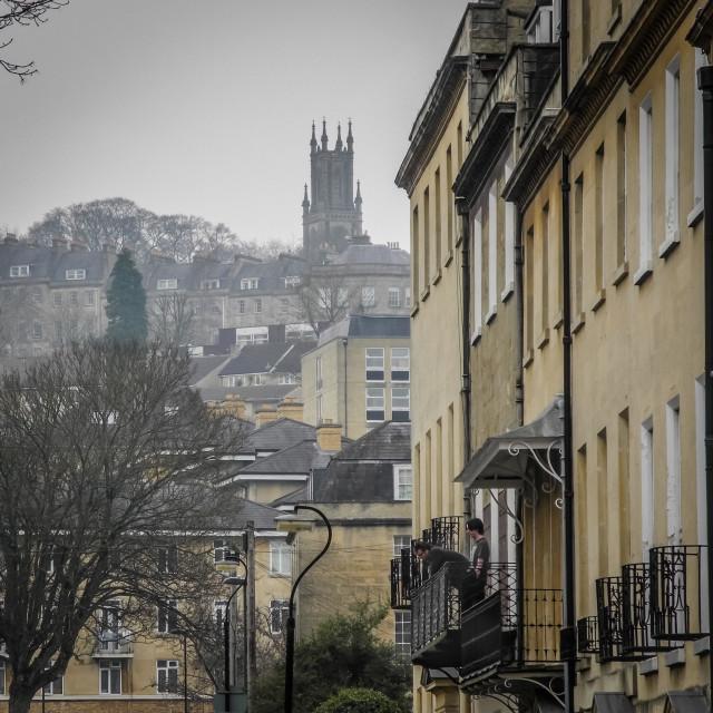 """Bath, towards St. Stephens"" stock image"